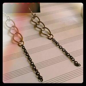 Handmade Chain Earrings, Long Gypsy Earrings